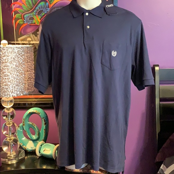 Chaps big and tall XLT navy polo